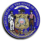 """Wisconsin - 3.5"""""""" State Seal"""
