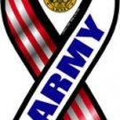 "Army - 4"" x 8"" Ribbon Magnet"