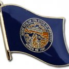 Nebraska Flag Lapel Pin