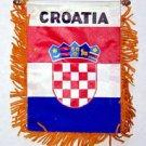Croatia Window Hanging Flag