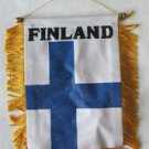Finland Window Hanging Flag