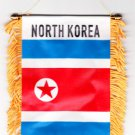 North Korea Window Hanging Flag