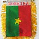 Burkina Faso Window Hanging Flag