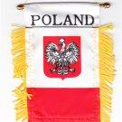 Poland Window Hanging Flag (Eagle)
