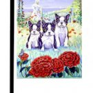 """Boston Terrier (Puppies) - 11""""x15"""" 2-Sided Garden Banner"""