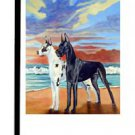 "Great Dane (At Sunset) - 11""""x15"""" 2-Sided Garden Banner"
