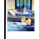 "Shih Tzu (Waiting for Master) - 11""""x15"""" 2-Sided Garden Banner"