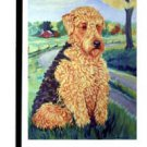 """Airedale (Patience) - 11""""""""x15"""""""" 2-Sided Garden Banner"""