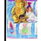 "Pomeranian (Playtime Quilt Teddybear) - 11""""x15"""" 2-Sided Garden Banner"