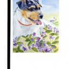 """Jack Russell Terrier (In the Flowers) - 11""""""""x15"""""""" 2-Sided Garden Banner"""