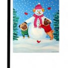 "Pug (Frosty's Helper) - 11""""x15"""" 2-Sided Garden Banner"