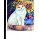 "Cat (Sunflowers) - 11""""x15"""" 2-Sided Garden Banner"