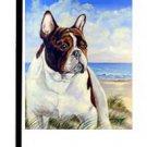 """English Bulldog (At The Beach) - 11""""""""x15"""""""" 2-Sided Garden Banner"""