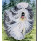 """Bearded Collie (On the Move) - 11""""""""x15"""""""" 2-Sided Garden Banner"""