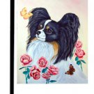 """Papillon (With Yellow Butterfly) - 11""""""""x15"""""""" 2-Sided Garden Banner"""