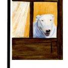 """Bull Terrier (White) - 11""""""""x15"""""""" 2-Sided Garden Banner"""