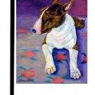 """Bull Terrier (Brown) - 11""""""""x15"""""""" 2-Sided Garden Banner"""