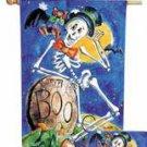 Bats and Mr. Bones Toland Art Banner