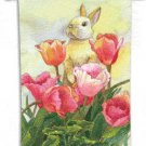 Bunny Tulip Toland Art Banner