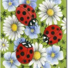 Flowers and Ladybugs Toland Art Banner