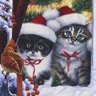 Kittens in Window Toland Art Banner