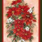 Poinsettia Spray Toland Art Banner