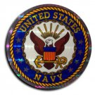 "Navy - 3"""" Reflective Decal (Seal)"