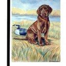 "Labrador (Chocolate-Training Day) - 11""x15"" 2-Sided Garden Banner"