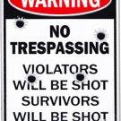 No Trespassing Parking Sign