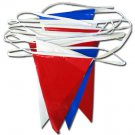 30' Pennant Streamer (Red White Blue)