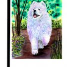 "Samoyed (Out for a Stroll) - 11""""x15"""" 2-Sided Garden Banner"