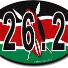 Kenya Wavy Oval Marathon Decal