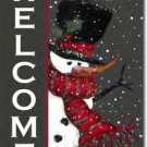 Snowman Welcome Toland Art Banner