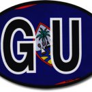 Guam Wavy Oval Decal