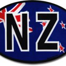 New Zealand Wavy Oval Decal