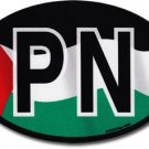 Palestine Wavy Oval Decal