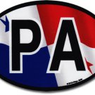 Panama Wavy Oval Decal