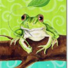 Frog on a Branch Toland Art Banner
