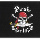 """Pirate for Life (Red Scarf) - 12""""X18"""" Nylon Flag"""