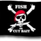 "Fish Or Cut Bait - 12""""X18"""" Nylon Flag"