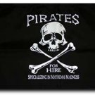 "Pirates for Hire - 12""""X18"""" Nylon Flag"