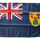 "Turks and Caicos - 12""""X18"""" Nylon Flag"