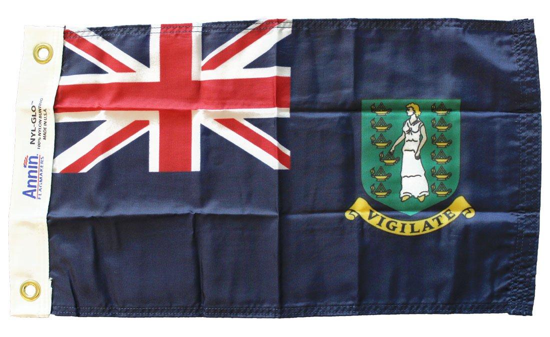 "British Virgin Islands (Blue) - 12""""X18"""" Nylon Flag"