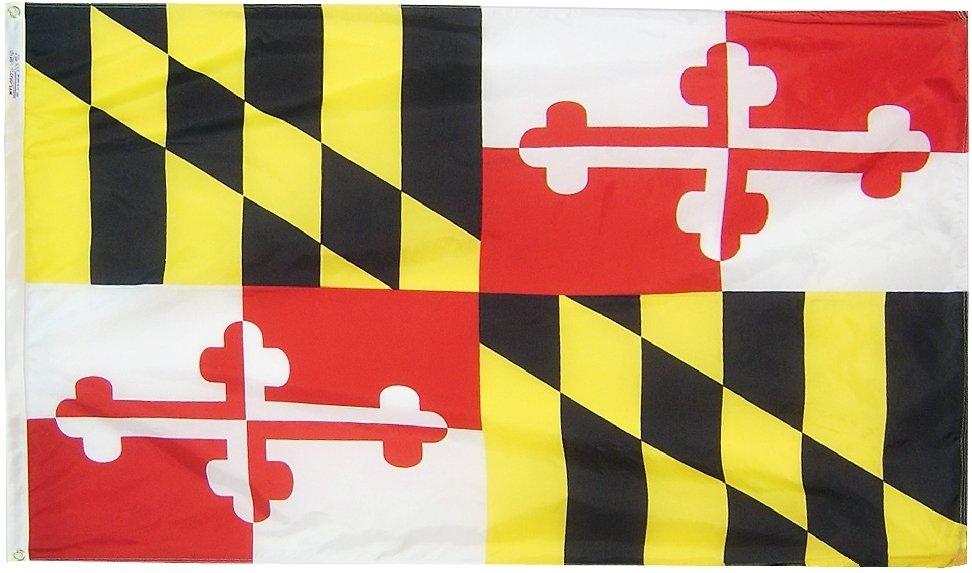 Maryland - 2'X3' Nylon Flag
