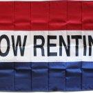 Now Renting - 3'X5' Nylon Flag