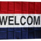 Welcome -3'X5' Nylon Flag (red/white/blue)
