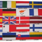 25 European Nations - 3'X5' Polyester Flag