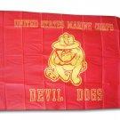 Devil Dogs - 3'X5' Polyester Flag