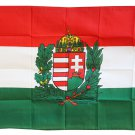 Hungary - 3'X5' Polyester Flag (Crest)