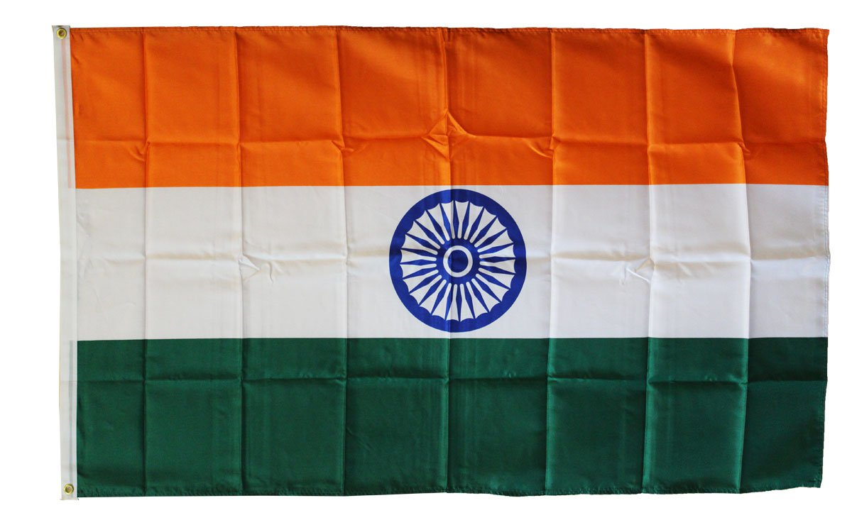 India - 3'X5' Polyester Flag